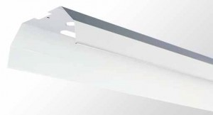 Industrial Reflector Kit - White Powder Coated Metal With Upward Slots For Single Tube LPB Series