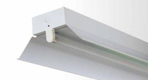 Reflector Batten - Single Tube With White Powder Coated Metal Reflector