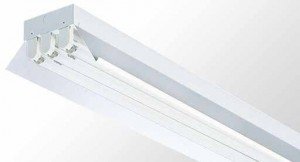 Reflector Batten - ThreeTube With White Powder Coated Metal Reflector