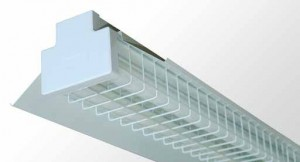 Reflector Batten - Twin Tube With Powder Coated Metal Reflector And Wire Guard