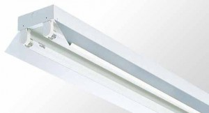 Reflector Batten - Twin Tube With White Powder Coated Metal Reflector