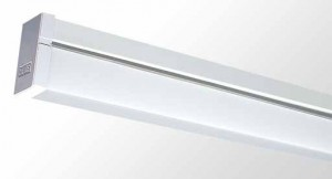 Square Diffused Batten - Single Tube With Opal Acrylic Diffuser