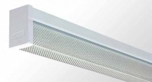 Square Diffused Batten - Single Tube With Prismatic Acrylic Diffuser