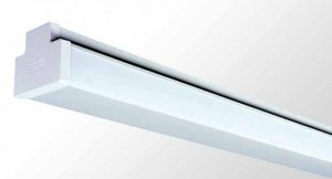 Square Diffused Batten - Twin Tube With Opal Acrylic Diffuser