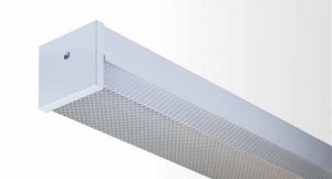 Square Diffused Batten - Twin Tube With Prismatic Diffuser