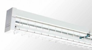 Wire Guarded Batten - Single Tube With Powder Coated Galvanised Wire Guard