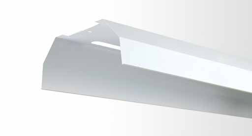 reflector batten twin tube with white powder coated metal reflector3