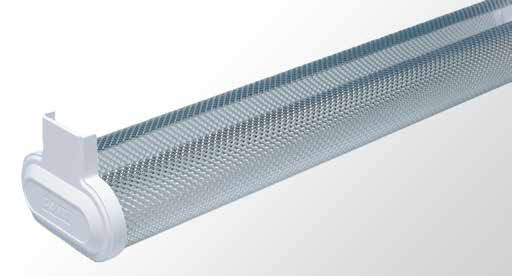 Curved Angle Reflector Batten - Twin Tube With Specular Aluminium Reflector