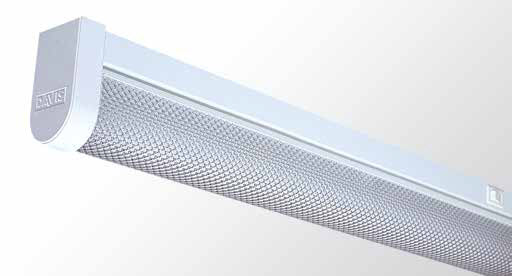 Round Diffused Batten Twin Tube With Shower Screen Pattern Diffuser