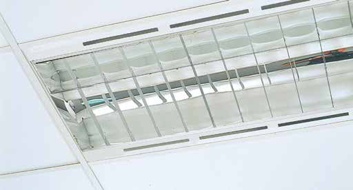 Recessed T/Bar Air Handling T8 - Armstrong Recessed T/Bar Air Handling Without Back Reflector