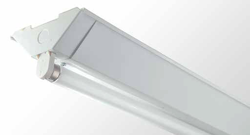Triangle Batten - Single Tube With White Powder Coated Sides