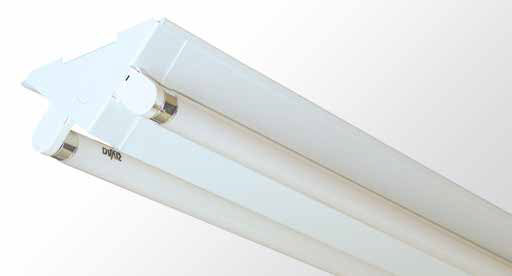 Triangle Batten - Twin Tube With White Powder Coated Sides