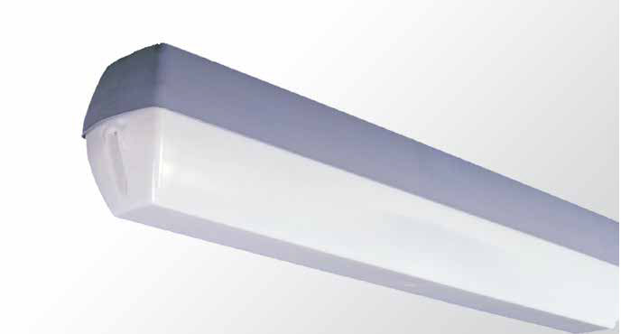 Weatherproof Diffused - Single Tube With Opal Polycarbonate Diffuser